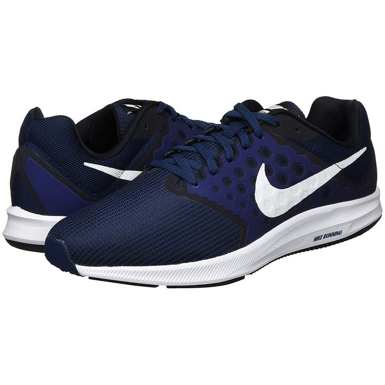 7859a6d0b948 Shop Nike Mens Downshifter 7 Running Shoe (4E) Midnight Navy White Dark  Obsidian Black Size 14 Wide 4E - Free Shipping Today - Overstock - 25660301