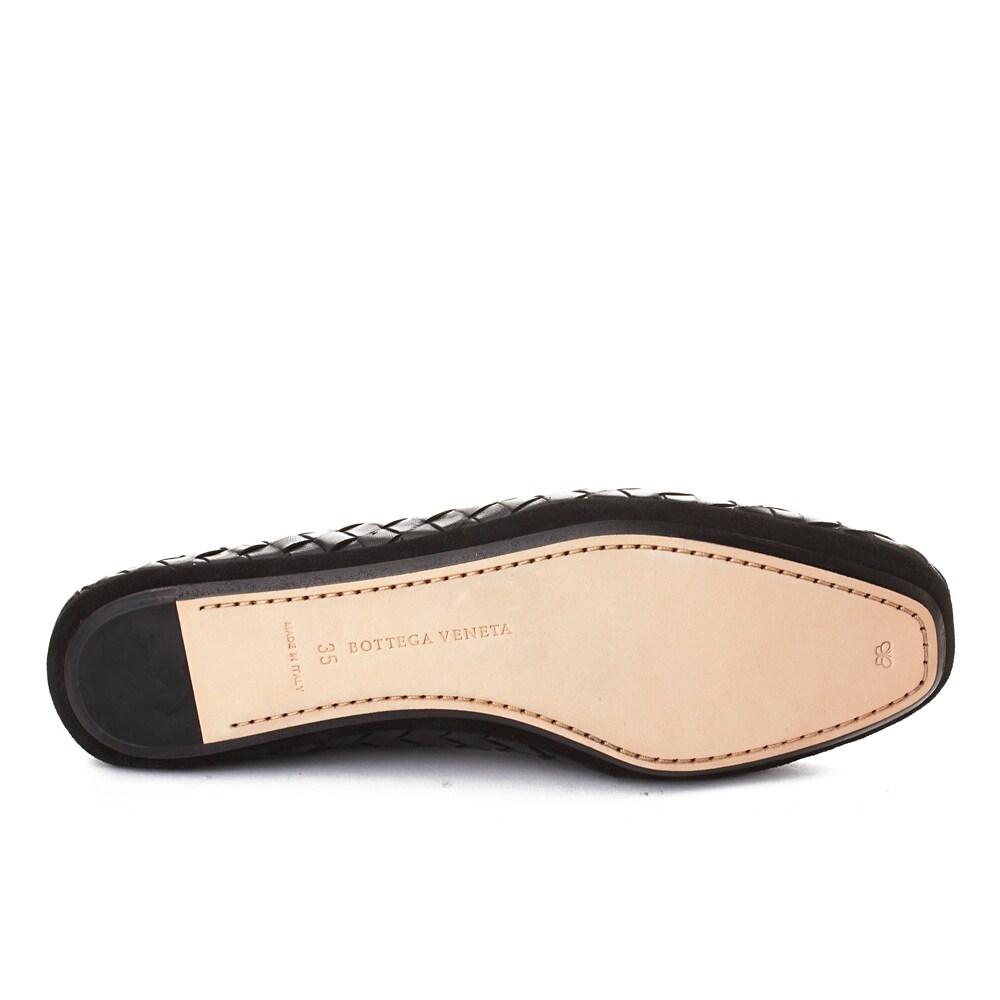 80729bda0da1 Shop Bottega Veneta Men s Intrecciato Leather Loafer Shoes Black - Free  Shipping Today - Overstock - 20677418