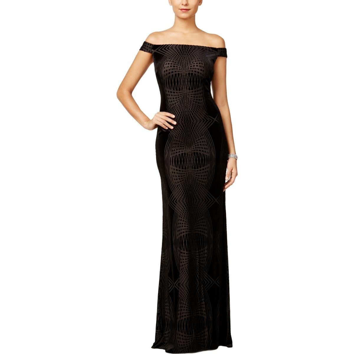 Shop Adrianna Papell Womens Evening Dress Velvet Burnout - Free ...