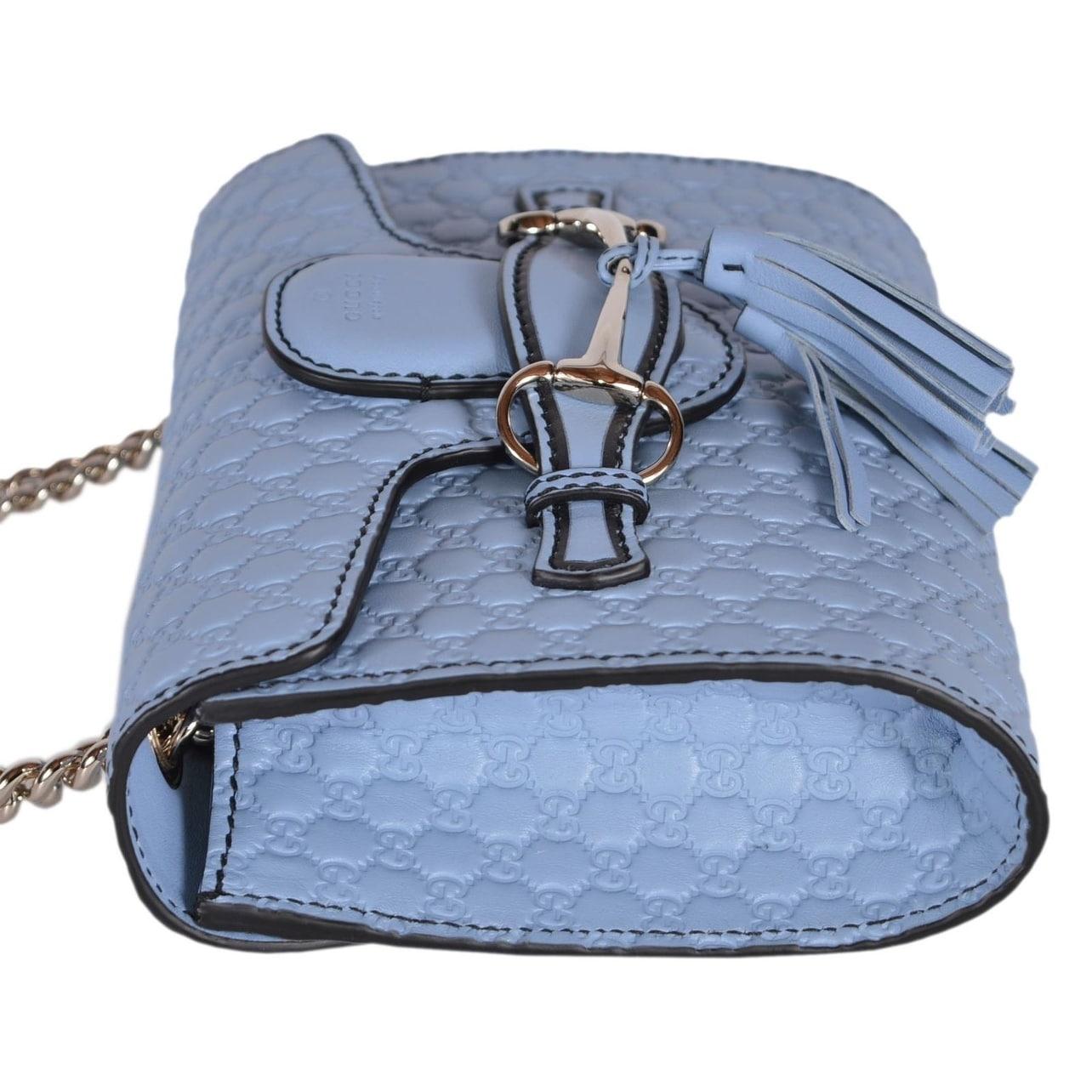 f6f93f6ad24c Shop Gucci 449636 Blue Micro GG Guccissima Leather MINI Emily Crossbody  Purse Bag - On Sale - Free Shipping Today - Overstock - 18106232