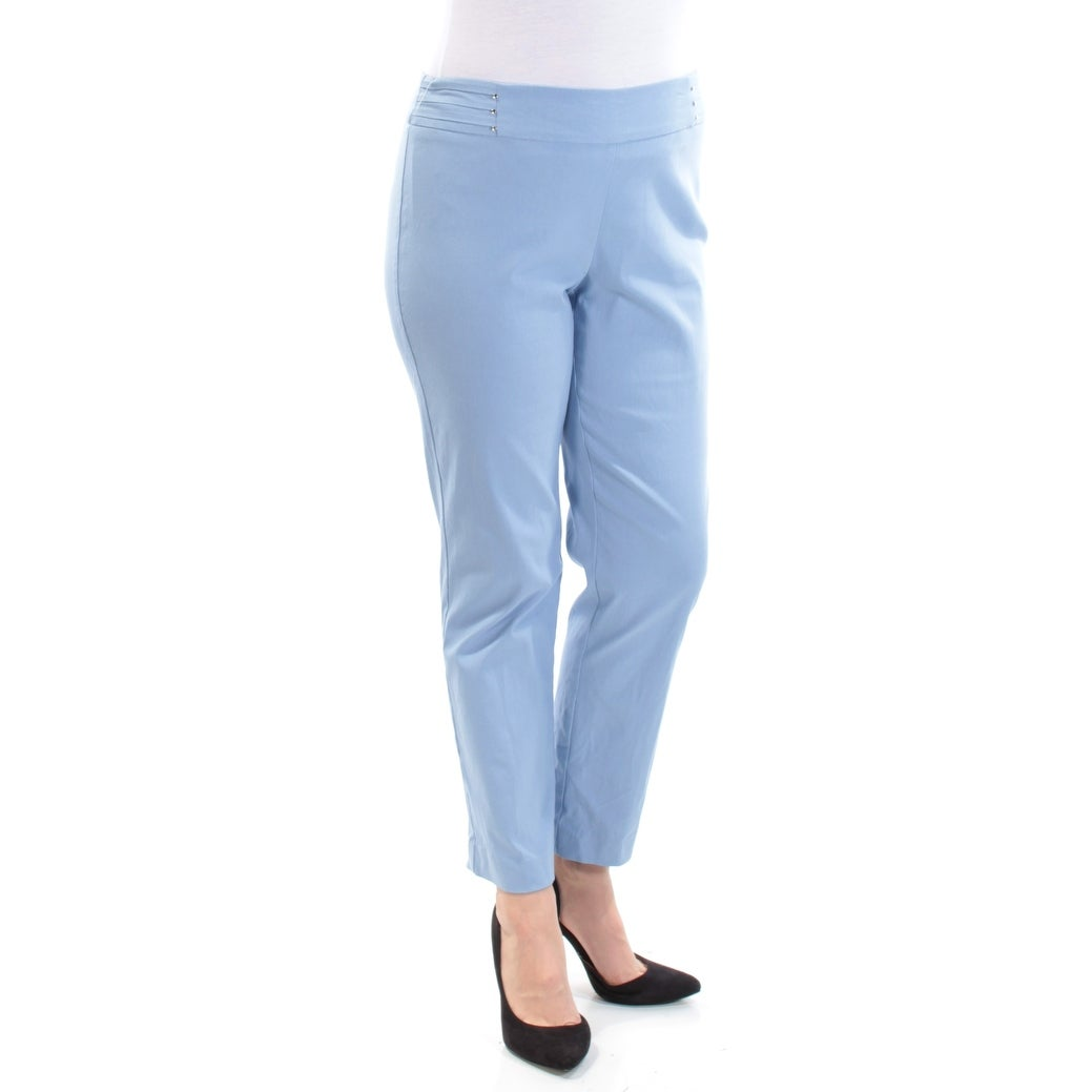 862b4e93 Shop Womens Light Blue Cropped Pants Petites Size L - Free Shipping On  Orders Over $45 - Overstock - 23456023
