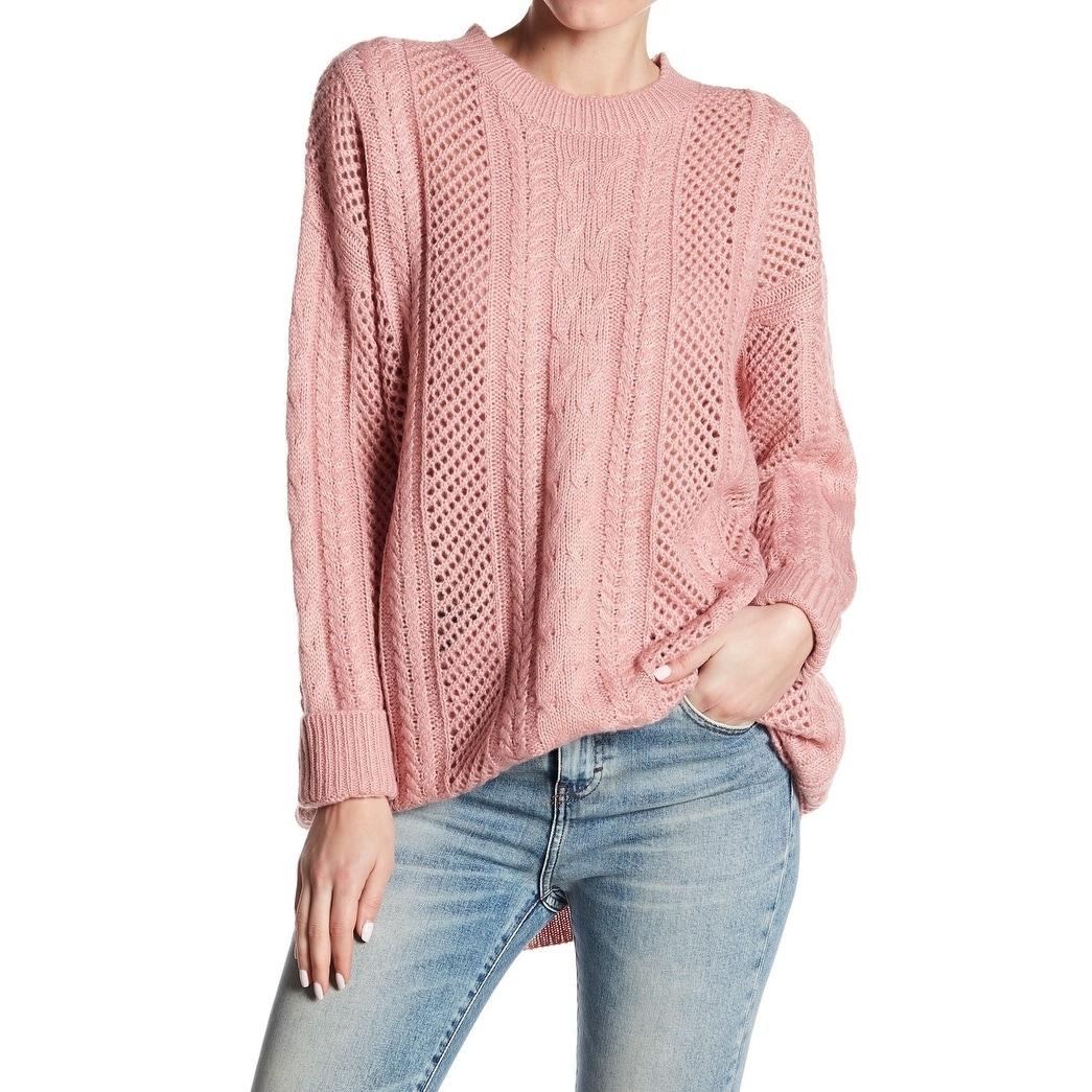 0d5086596eb Shop John + Jenn Women's Medium Cable-Knit Tunic Sweater - On Sale ...
