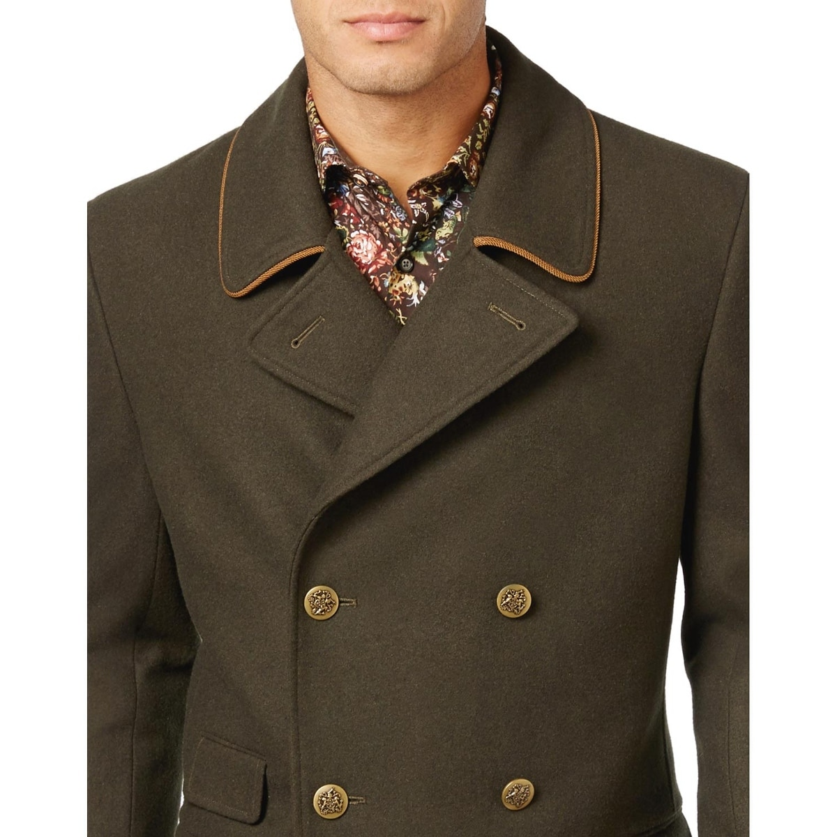 8079762b5b8 Shop Tallia Orange Mens Wool Blend Peacoat Overcoat Dark Olive Green Medium  M - Free Shipping Today - Overstock - 17378699
