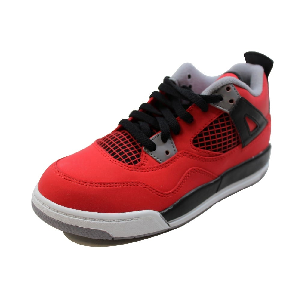 new concept 4d88f 6cf65 ... get shop nike pre school air jordan iv 4 retro fire red white black  cement grey
