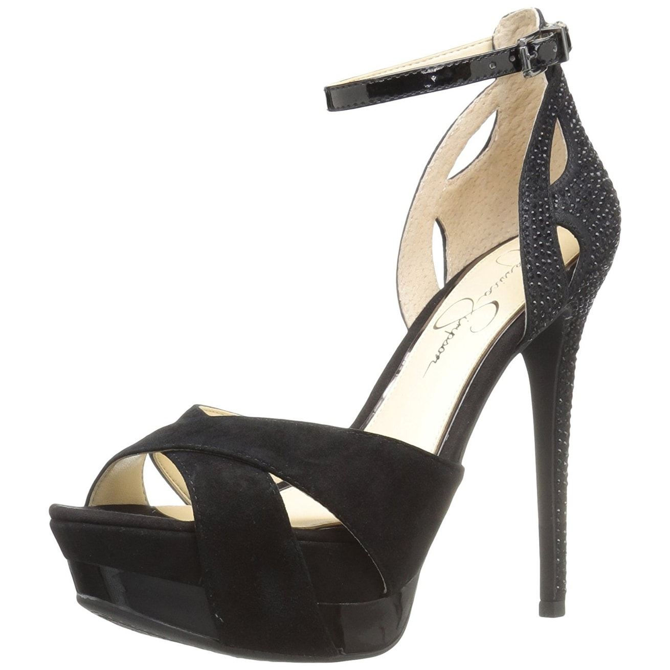 d07a63bdfd4 Jessica Simpson Womens Wendah Suede Open Toe Special Occasion Ankle Strap  San.