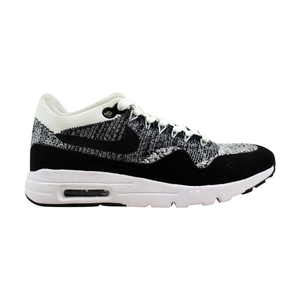 0d8aac307778 Shop Nike Air Max 1 Ultra Flyknit White Black-Black 843387-100 ...