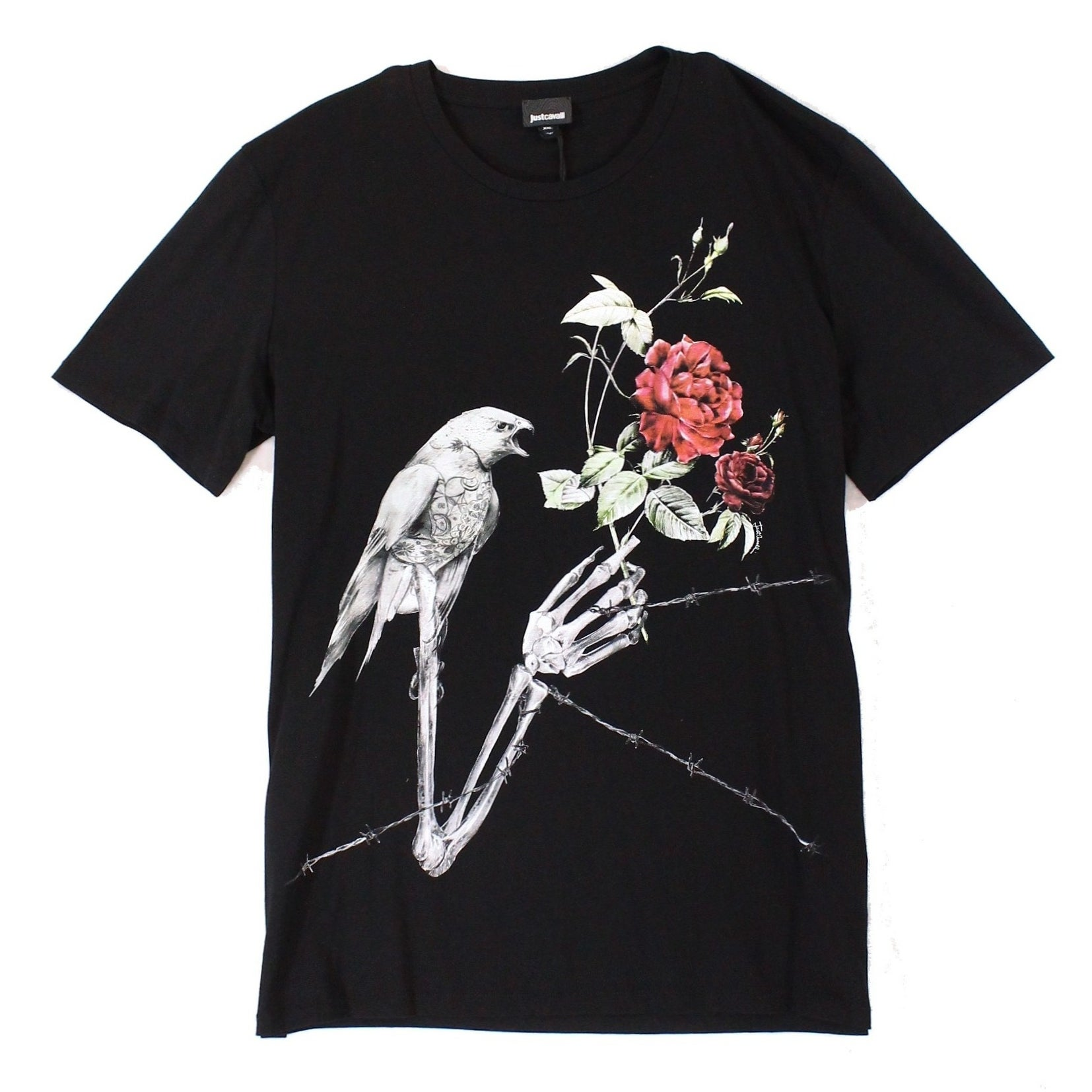 6325735279 Shop Just Cavalli Black Mens Size 2XL Bird Graphic Print Tee T-Shirt - Free  Shipping Today - Overstock - 22334844
