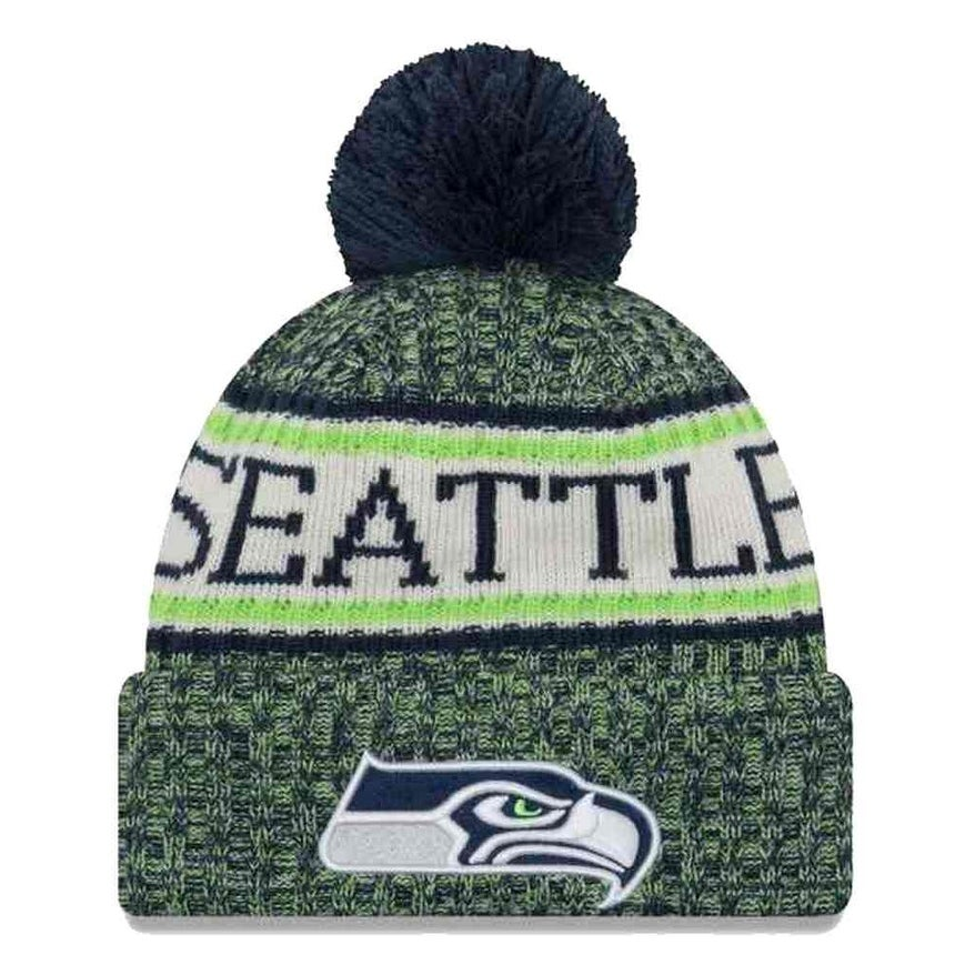 07ce89766cd Shop New Era 2018 NFL Seattle Seahawks Sport Stocking Knit Hat Winter Beanie  11768168 - Free Shipping On Orders Over  45 - Overstock - 23042810
