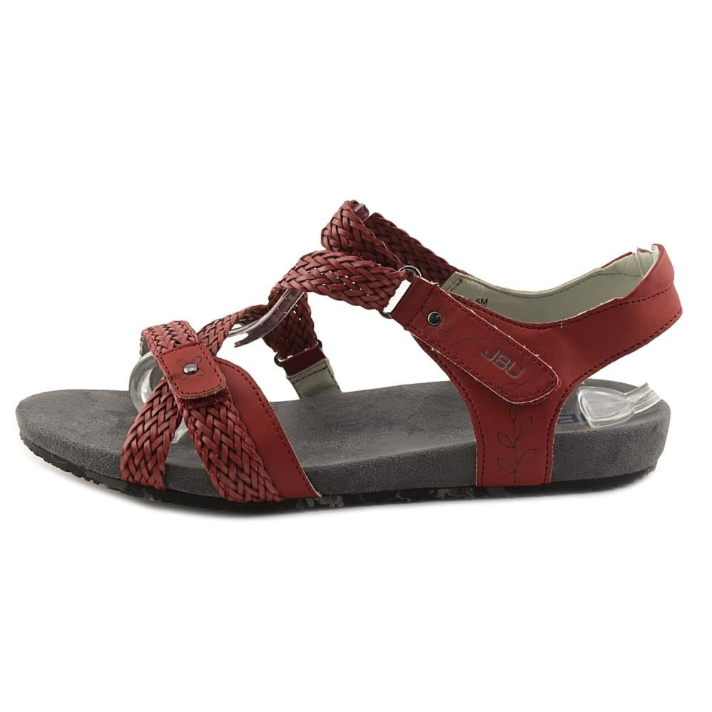 df87814072e Shop JBU by Jambu Loreta Women Open Toe Synthetic Red Gladiator ...