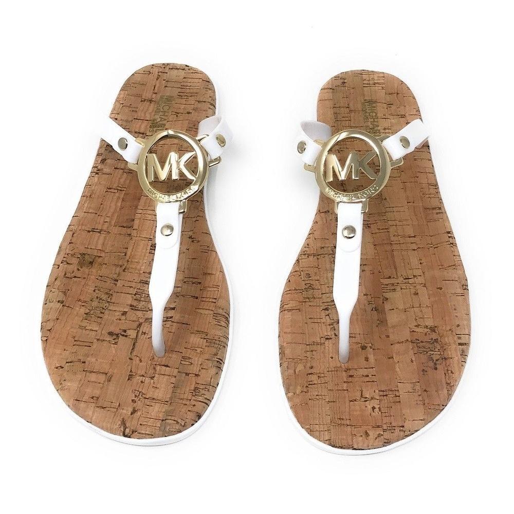 26d05607dc94 Shop Michael Kors MK Charm Jelly Flip Flop Cork Bottom