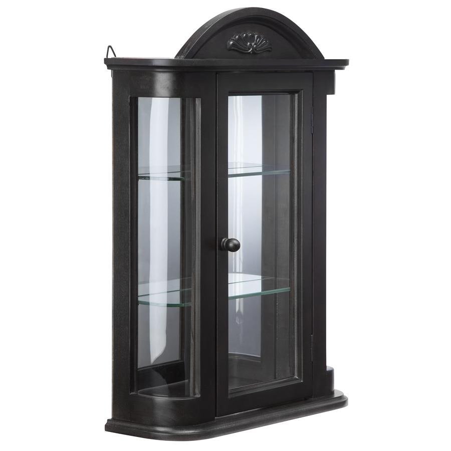 Genial Shop Design Toscano Rosedale Hardwood Wall Curio Cabinet: Ebony Black  Finish   Free Shipping Today   Overstock.com   21593216