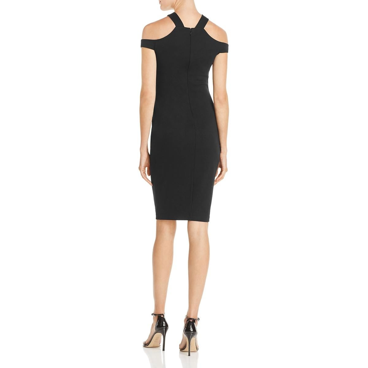 Shop Bailey 44 Womens Messe Cocktail Dress Cold Shoulder Knee-Length ... 7aa144f96
