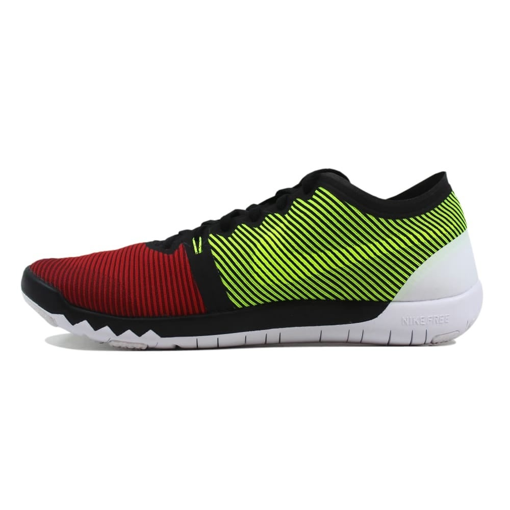 48fb0a2851a65 Shop Nike Free Trainer 3.0 V4 Black Team Red-University Red-Volt 749361-066  Men s - On Sale - Free Shipping Today - Overstock - 27339864