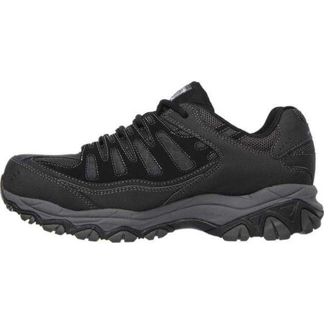 3b4af9340dd Skechers Men's Work Relaxed Fit Crankton Steel Toe Shoe Black/Charcoal