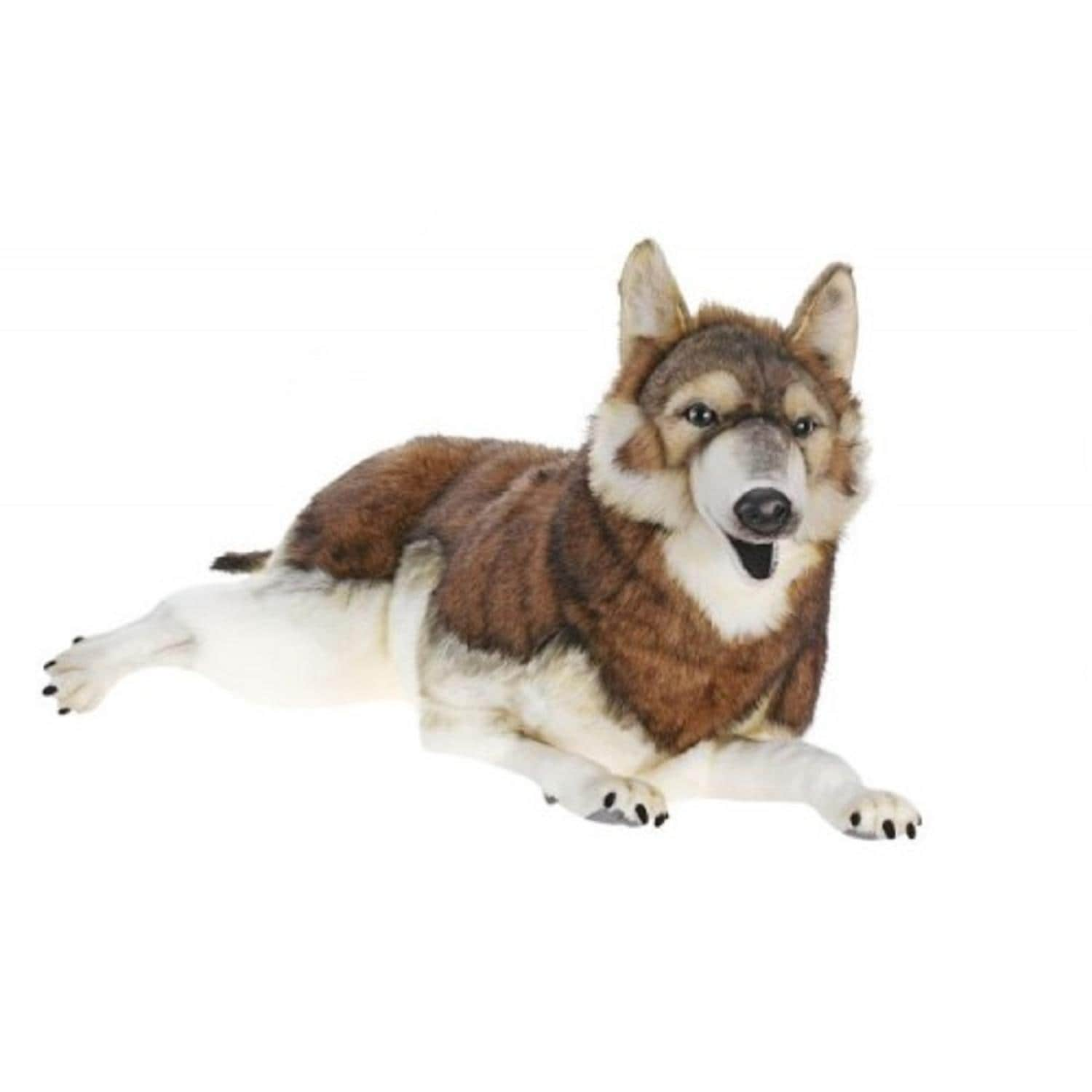 Shop Life Like Handcrafted Extra Soft Plush Laying Timber Wolf
