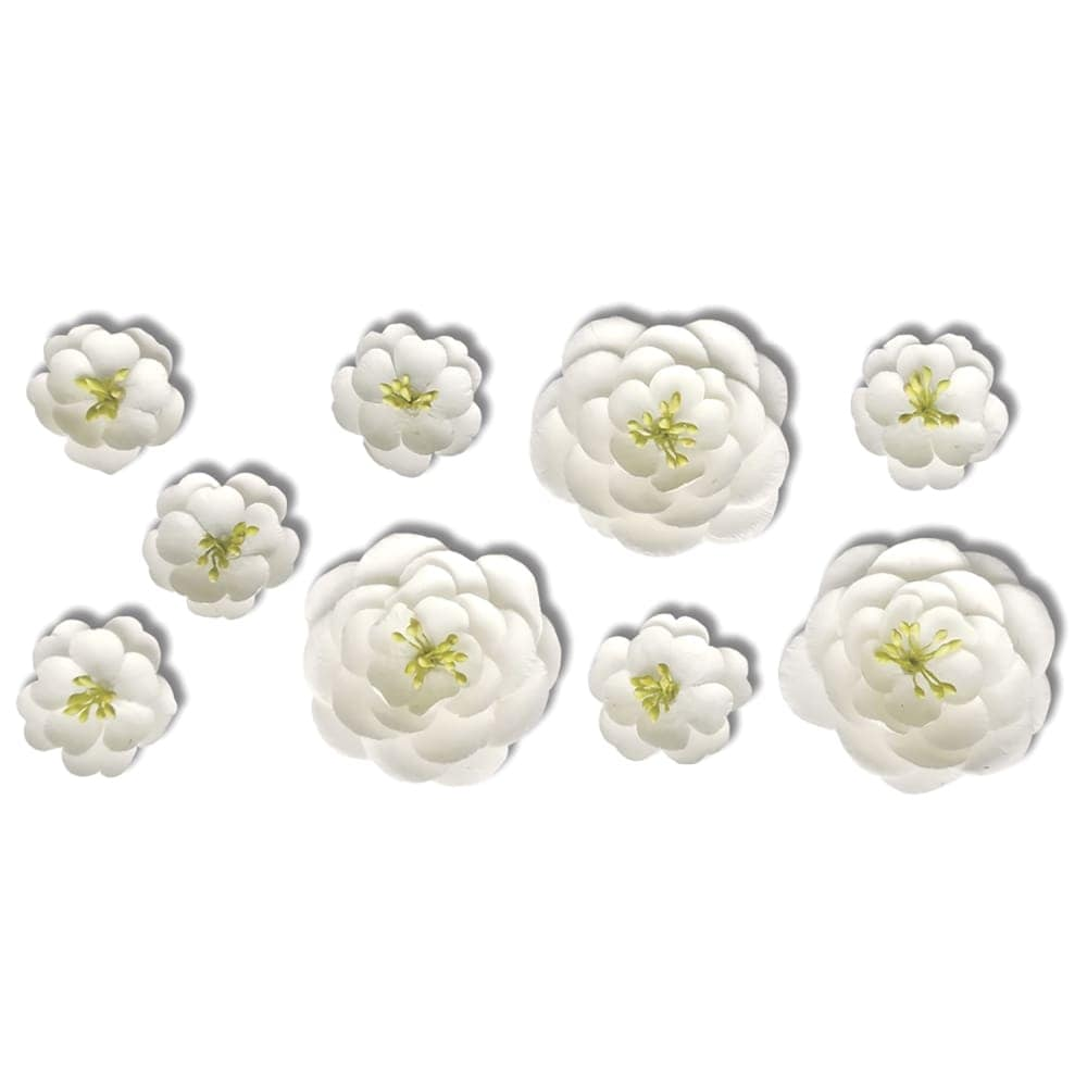 Shop Roommates Emb0003scs 9 Piece White Flower Peel And Stick Wall