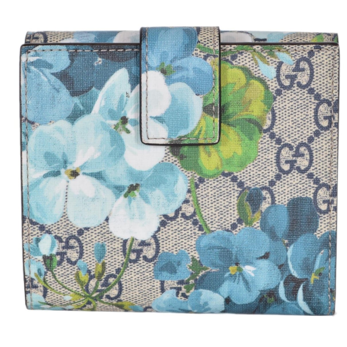 605e4e91469033 Shop Gucci Women's 410071 GG Blooms Supreme Coated Canvas French Wallet -  4.5