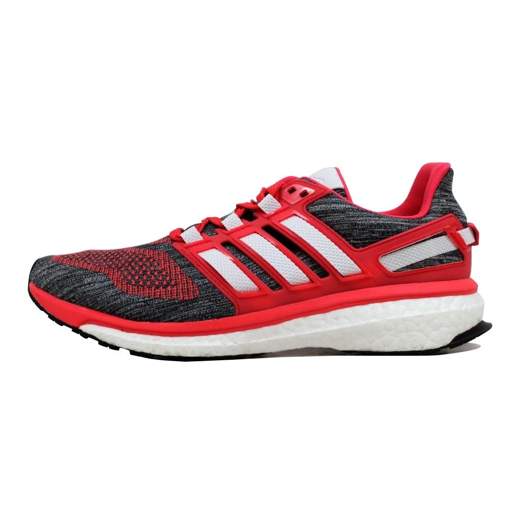 09784d326d493 Shop Adidas Women s Energy Boost 3 W Grey Crimson-White BA7942 Size ...
