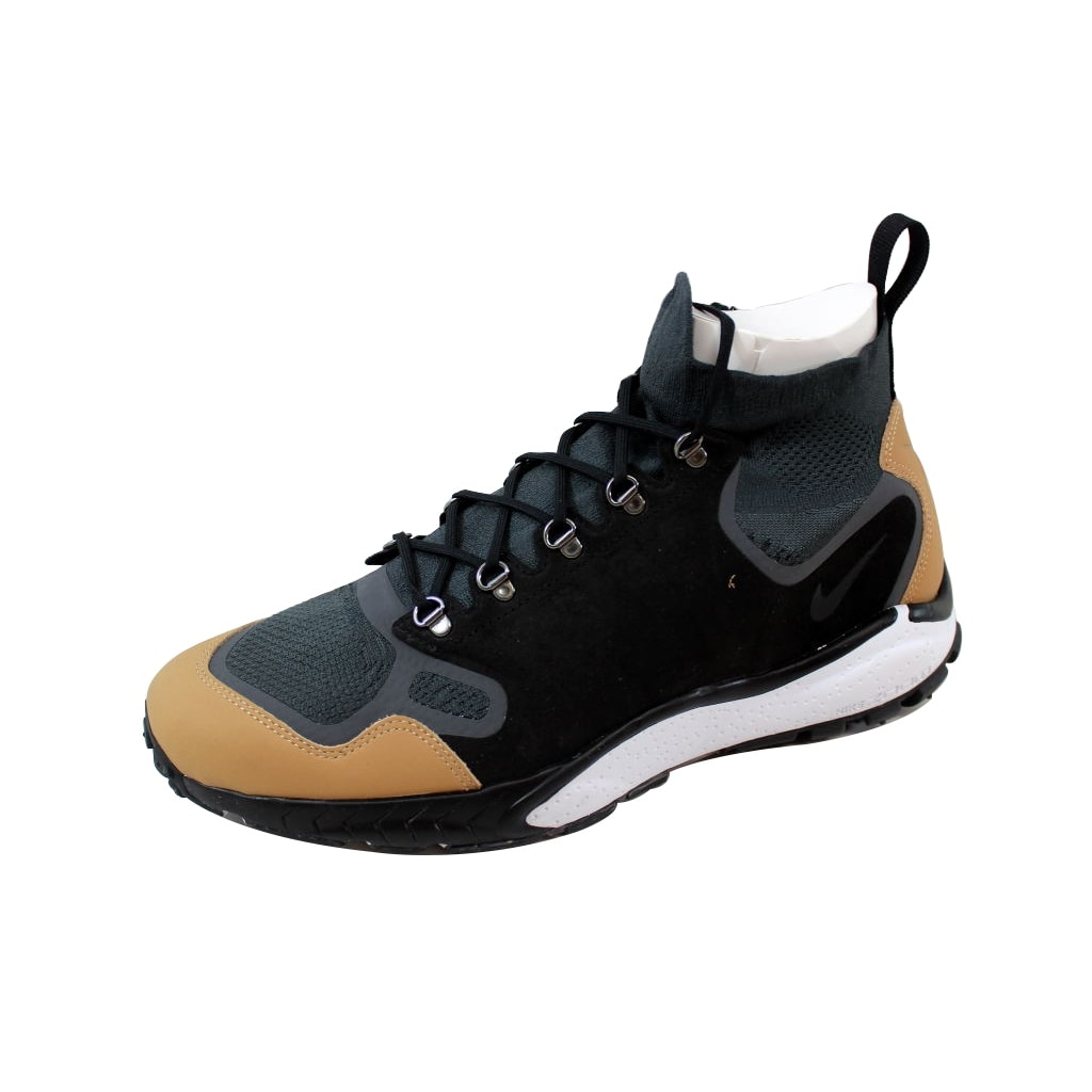 649c359cdeb3 Shop Nike Men s Air Zoom Talaria Mid Flyknit Premium  Anthracite Black-Vachetta Tan 875784-001 - Free Shipping Today - Overstock  - 20129471