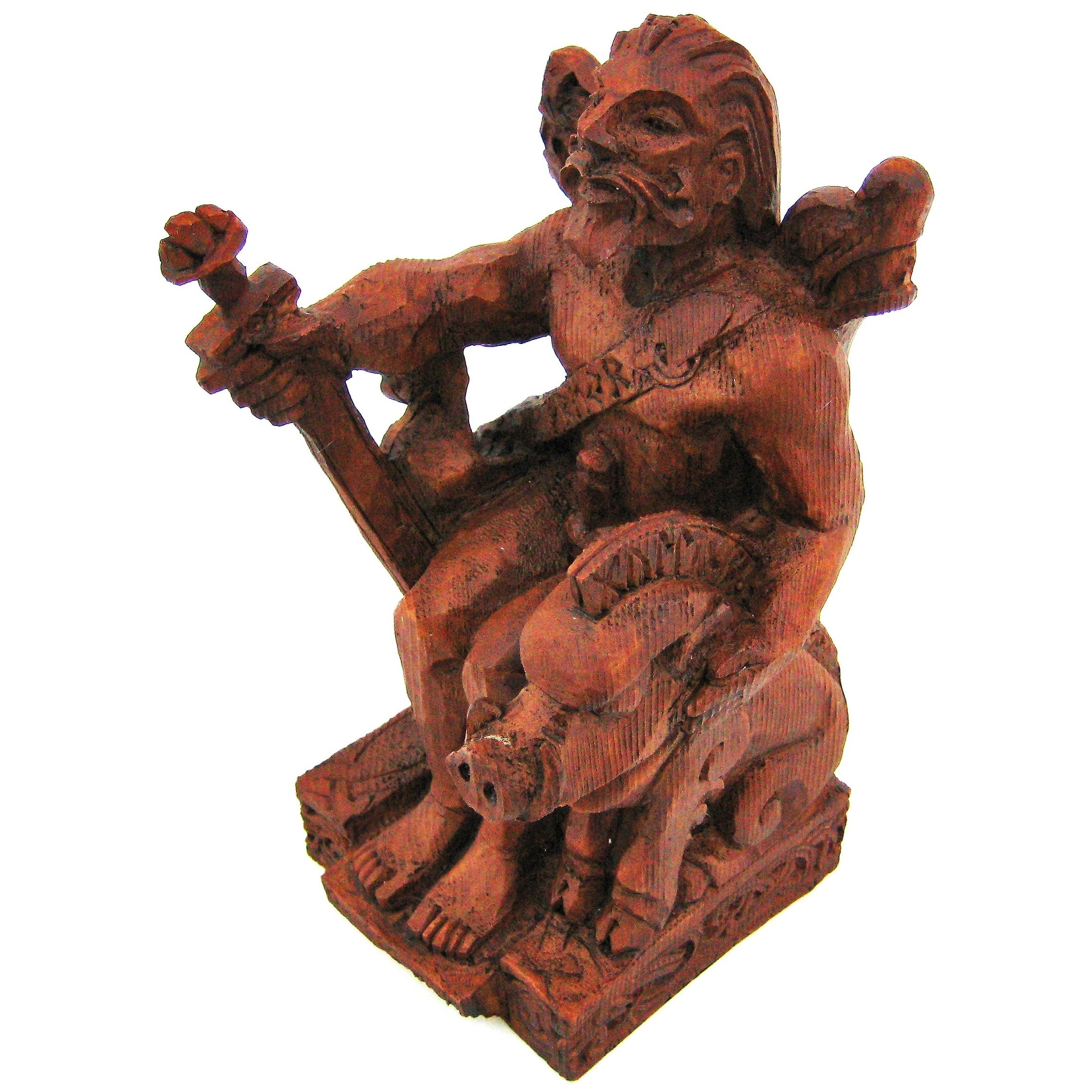 Shop Norse God Freyr Wood Finish Statue Pagan Fertility   Free Shipping On  Orders Over $45   Overstock.com   16819317
