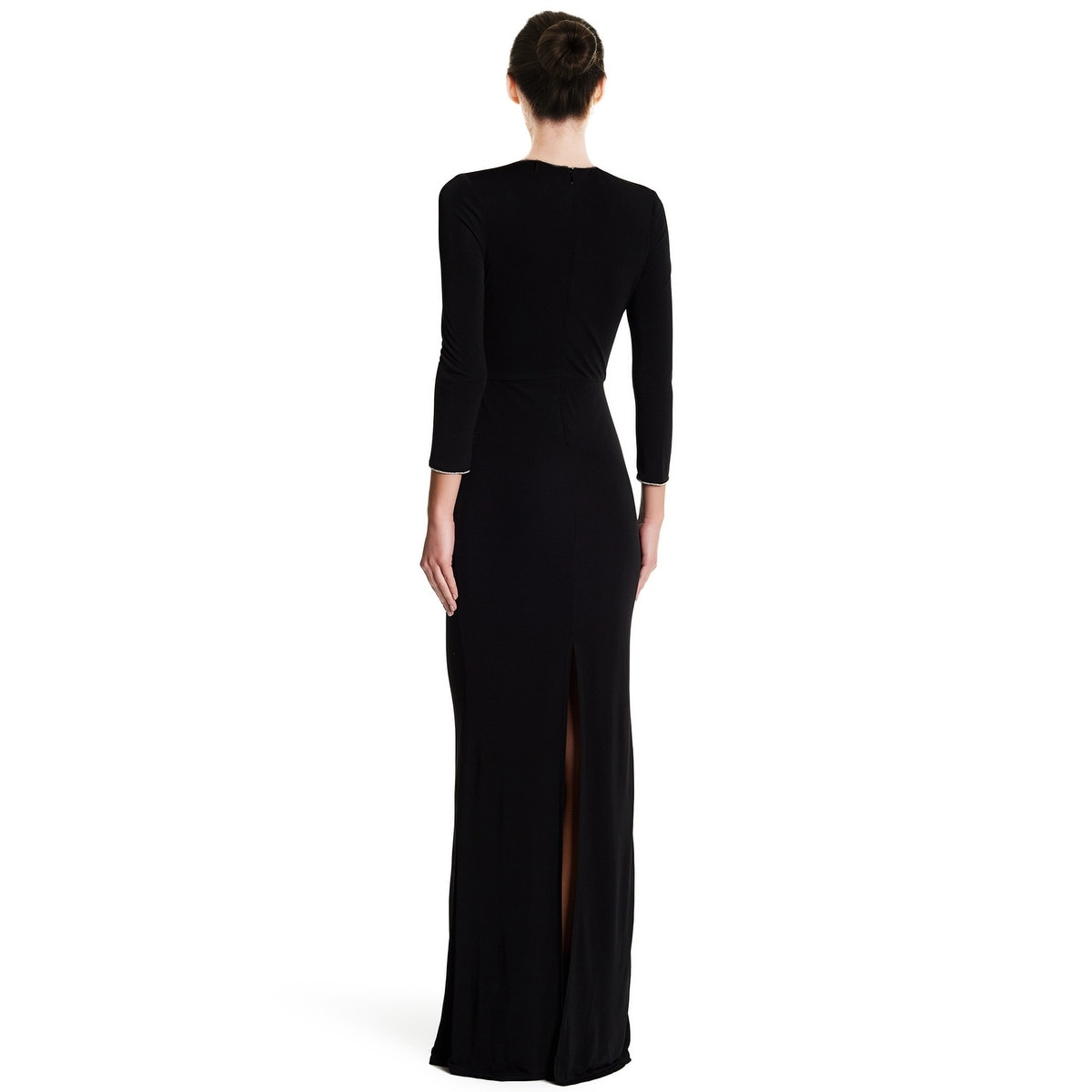ddd22b069894a Shop ABS by Allen Schwartz Keyhole Twist Front 3 4 Sleeve Evening Gown  Dress - xs - Free Shipping Today - Overstock - 18534725
