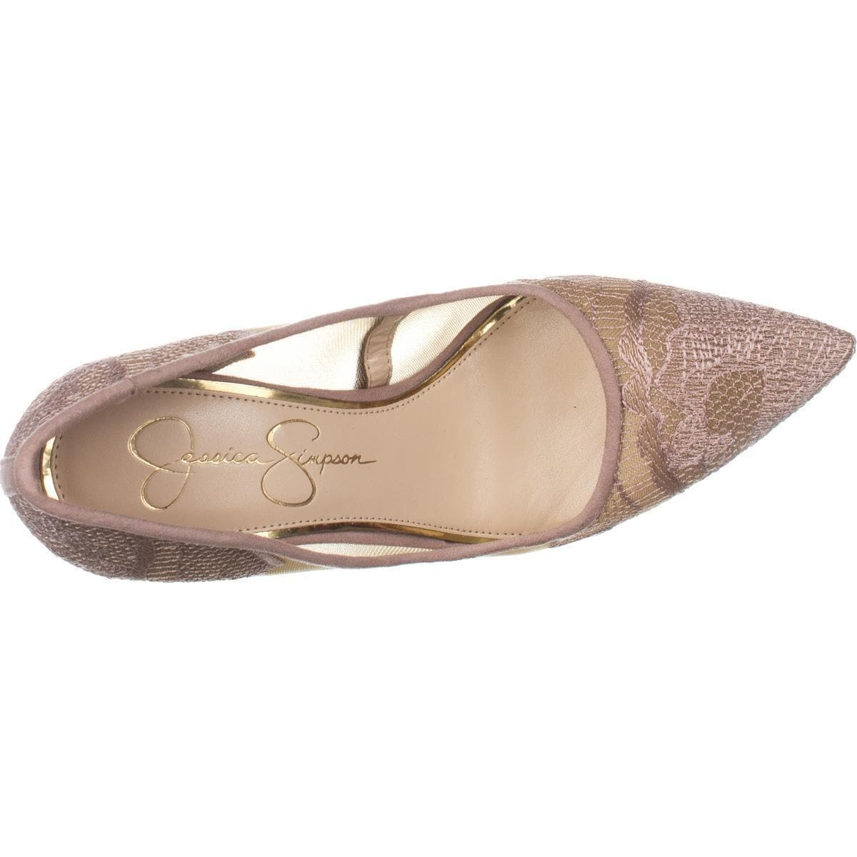 de6d987af0a Jessica Simpson Camba Mesh Pointed Toe Pumps, Sheer Nude Blush