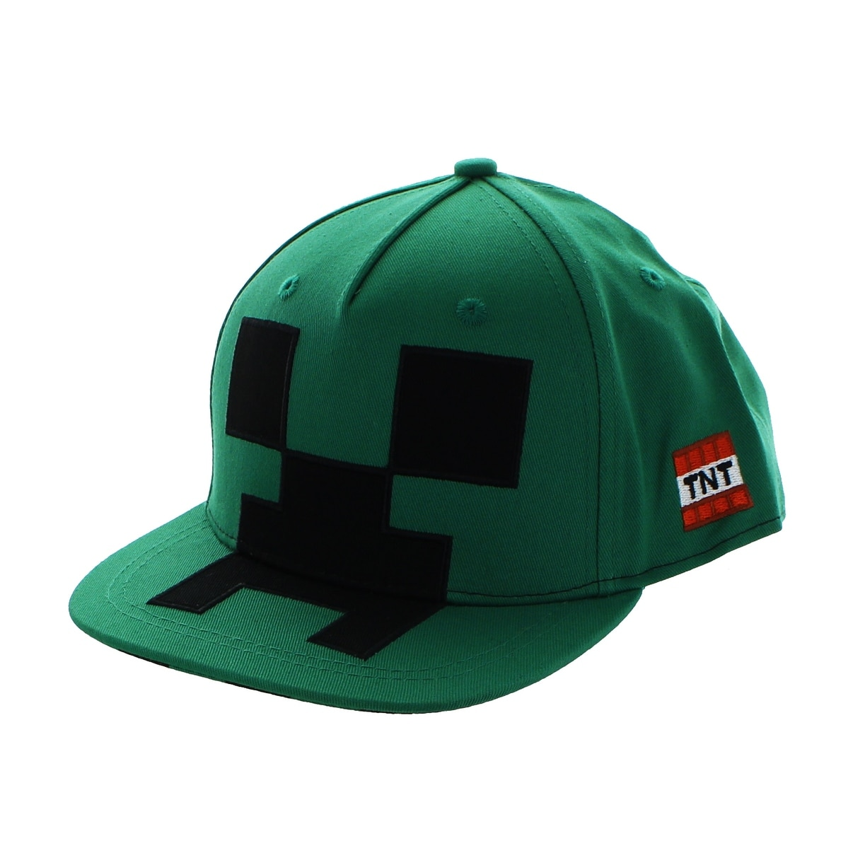 45296dbb3e2 Shop Minecraft Creeper Mob Snapback Hat - Green - Free Shipping On Orders  Over  45 - Overstock.com - 18422113