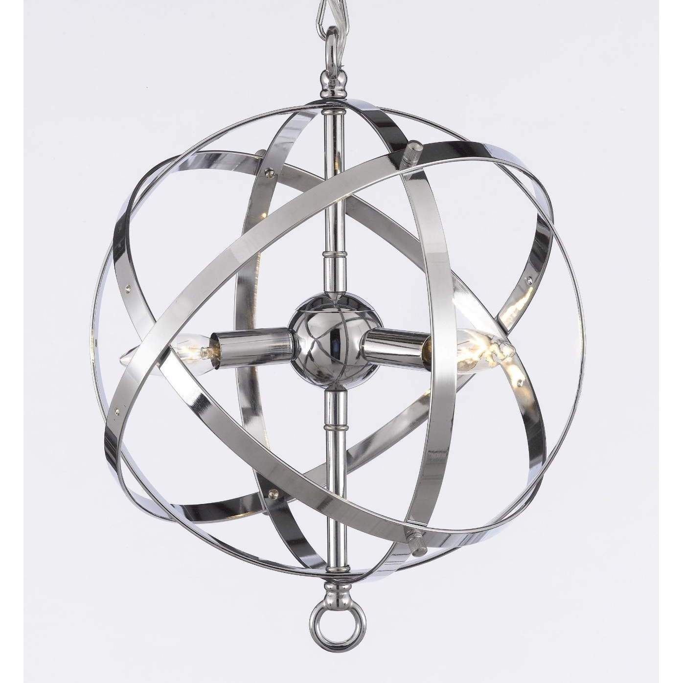 Foucault S Orb Chandelier Lighting Chrome Finish On Free Shipping Today 11525933