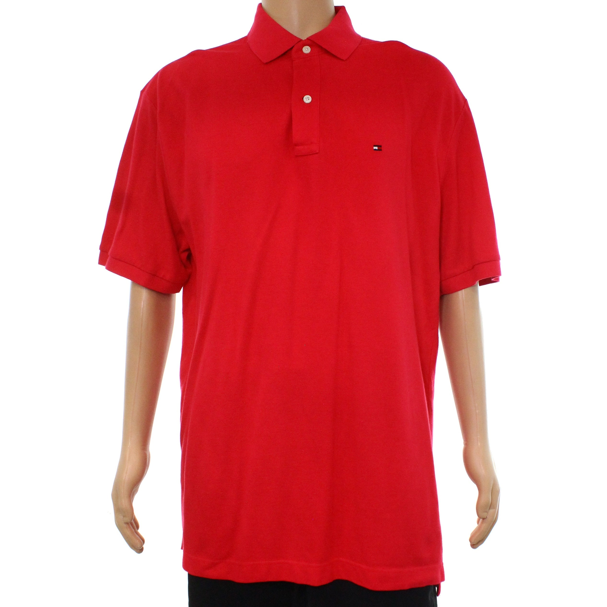 Shop Tommy Hilfiger Hot Pink Mens Size Xl Polo Rugby Classic Fit