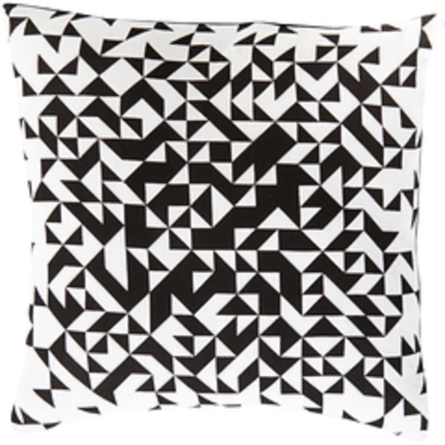 18 ink black and lace white contemporary decorative square throw pillow down filler free shipping today overstock com 26643704