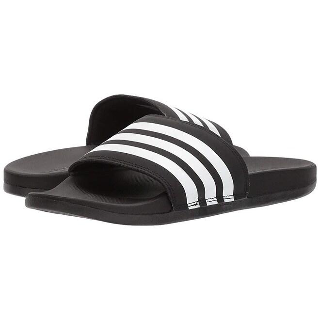 pick up 495fe 137f6 Adidas Womens Adilette Cloudfoam+ Slide Sandal, WhiteBlack, 8 M Us