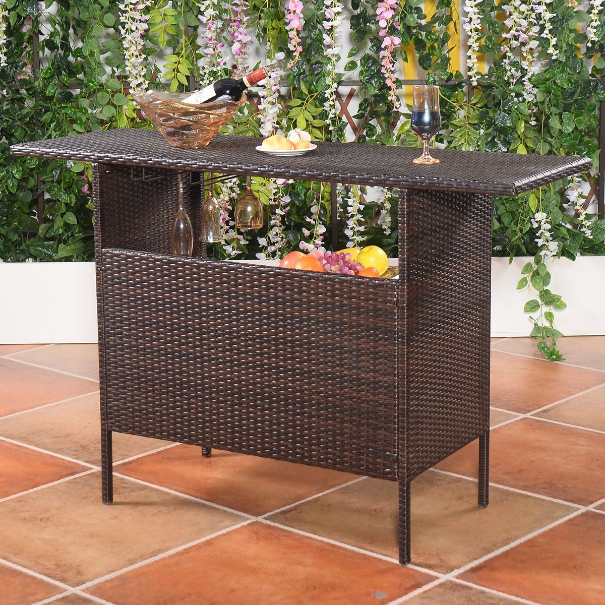 Costway Outdoor Rattan Wicker Bar Counter Table Shelves Garden Patio on gym furniture, garden furniture covers, fire pits, bedroom furniture, teak outdoor furniture, garden white furniture, patio heaters, patio furniture cushions, garden furniture sets, wicker patio furniture, wood patio furniture, garden furniture uk, solar powered furniture, outdoor patio furniture, wrought iron patio furniture, garden canopy replacement, garden wood furniture, garden antiques, garden furniture cushions, garden veranda furniture, garden room furniture, teak patio furniture, painting garden furniture, outdoor furniture, fairy garden furniture, outside garden furniture, aluminum patio furniture, patio cushions, teak furniture, garden benches, garden stone furniture, patio chairs, garden dining furniture, patio furniture covers, patio sets, oak garden furniture, patio umbrellas, wicker furniture, garden awnings,