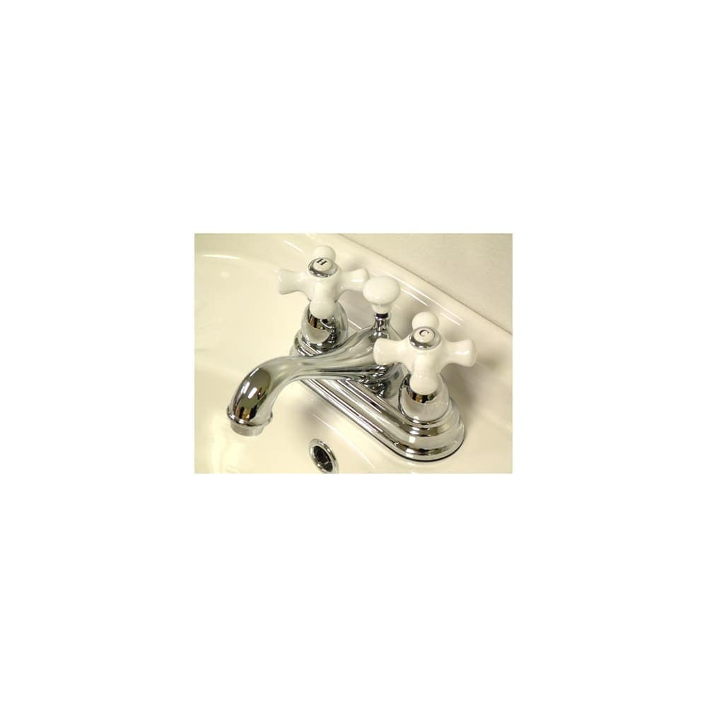Shop Elements Of Design ES3601PX Double Handle Centerset Bathroom ...