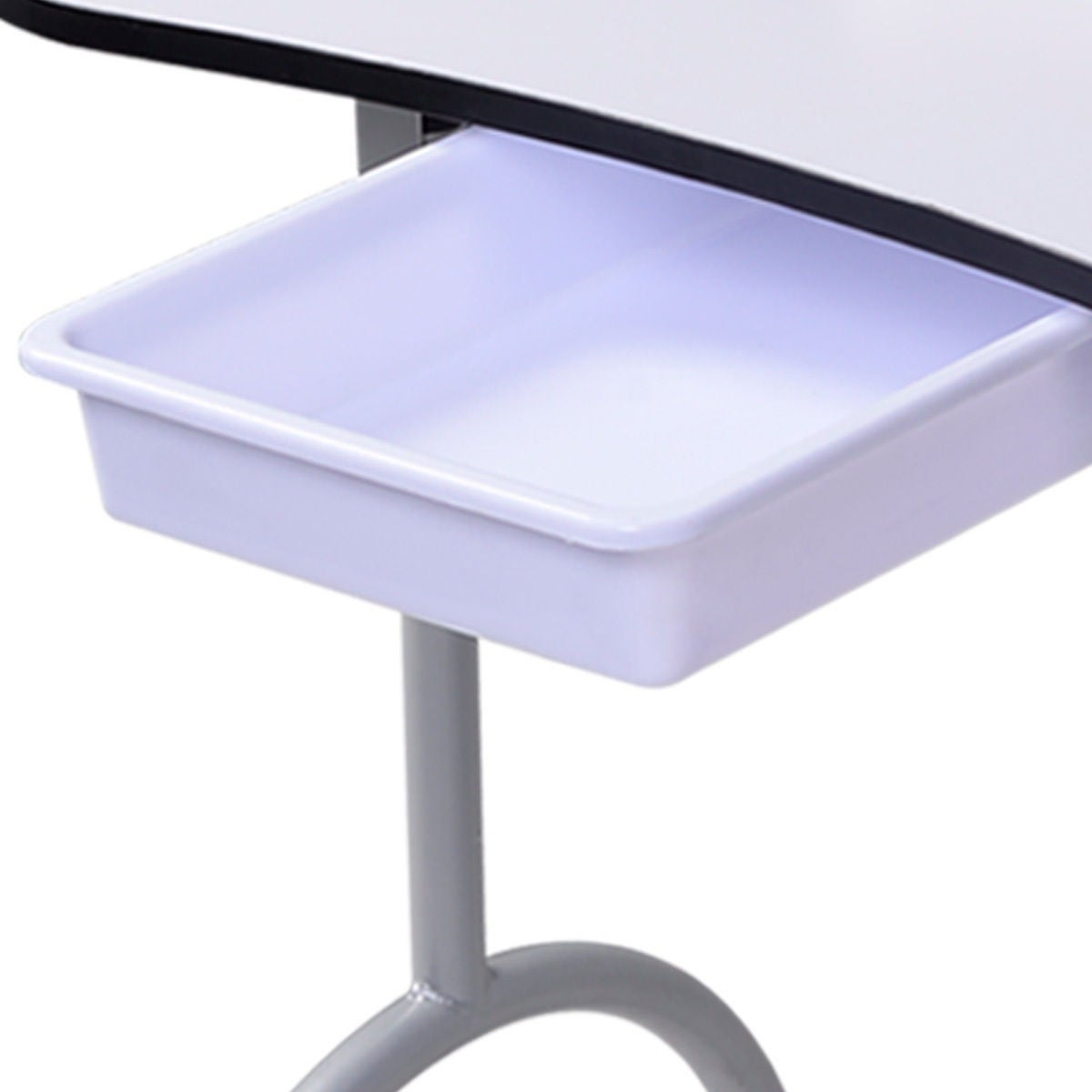 Costway Portable Manicure Nail Table Station Desk Spa Beauty Salon ...