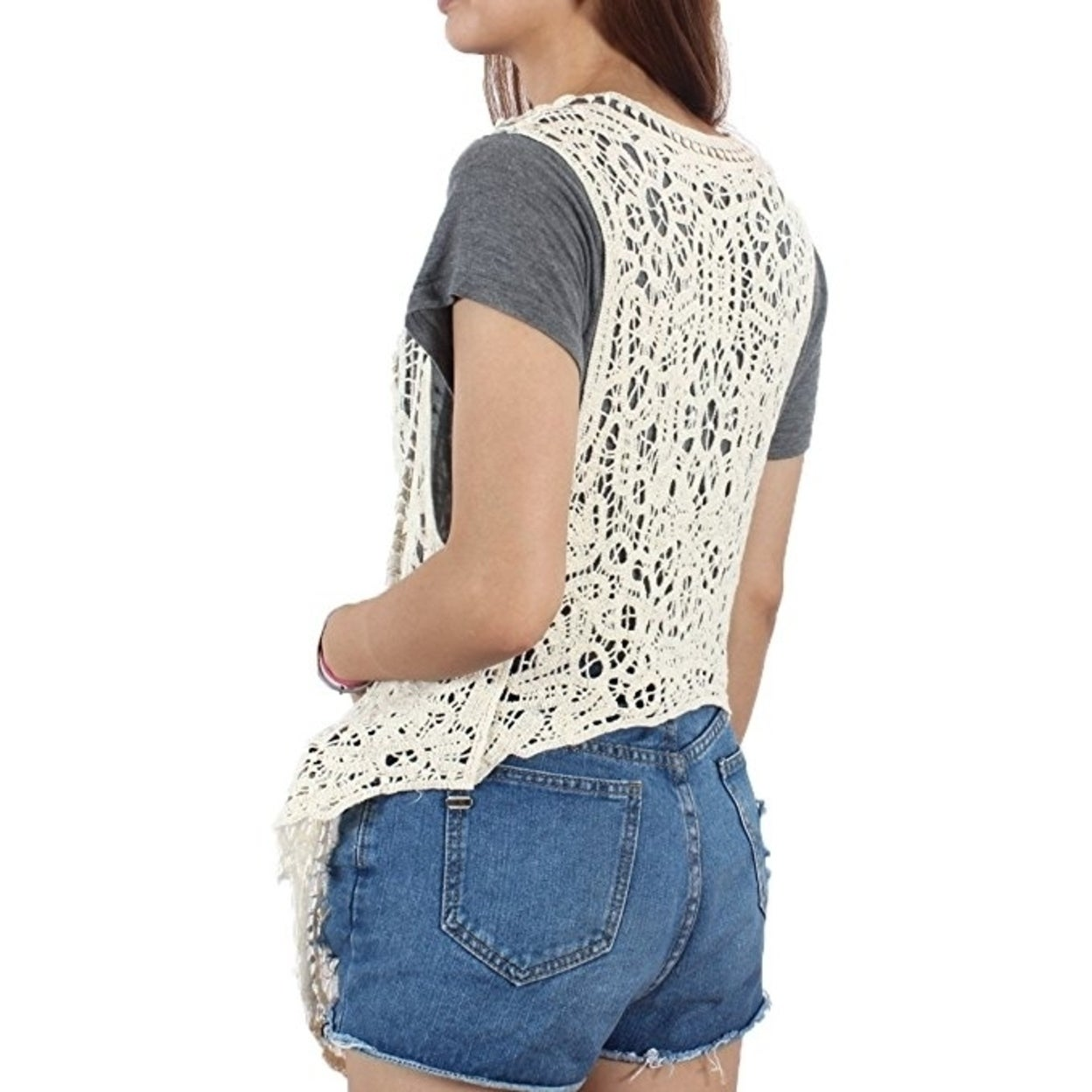 edf32f7c87 Shop Pirate Curiosity Open Stitch Cardigan Boho Hippie Crochet Vest - On  Sale - Free Shipping On Orders Over  45 - Overstock - 25858001