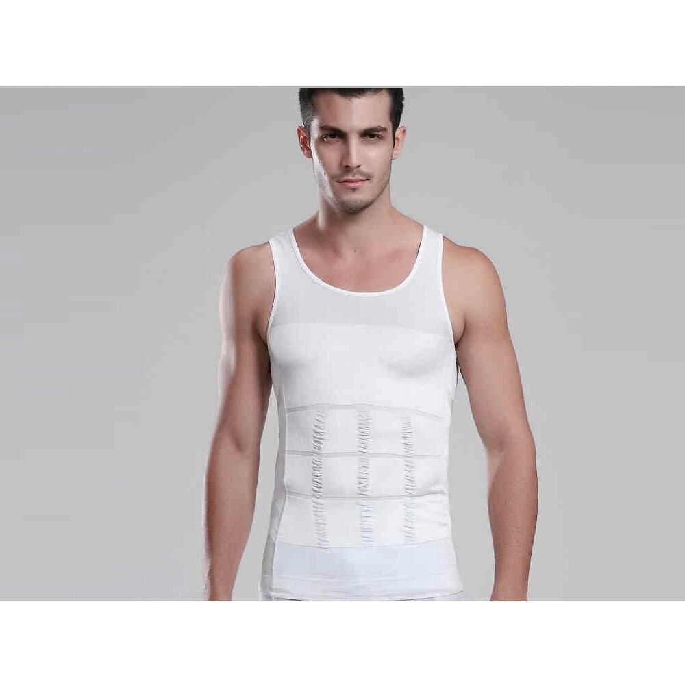 Shop Men Sleeveless Slimming Compression Shirt Vest Tank Under Base