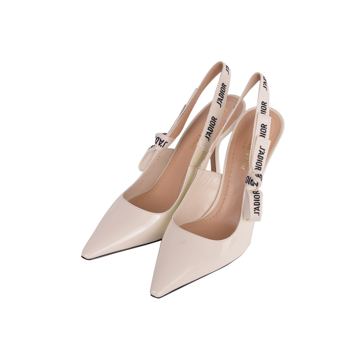 24ae7384613 Shop Dior Womens Ivory Patent Leather J Adior Slingback Pumps - Free  Shipping Today - Overstock - 26386742