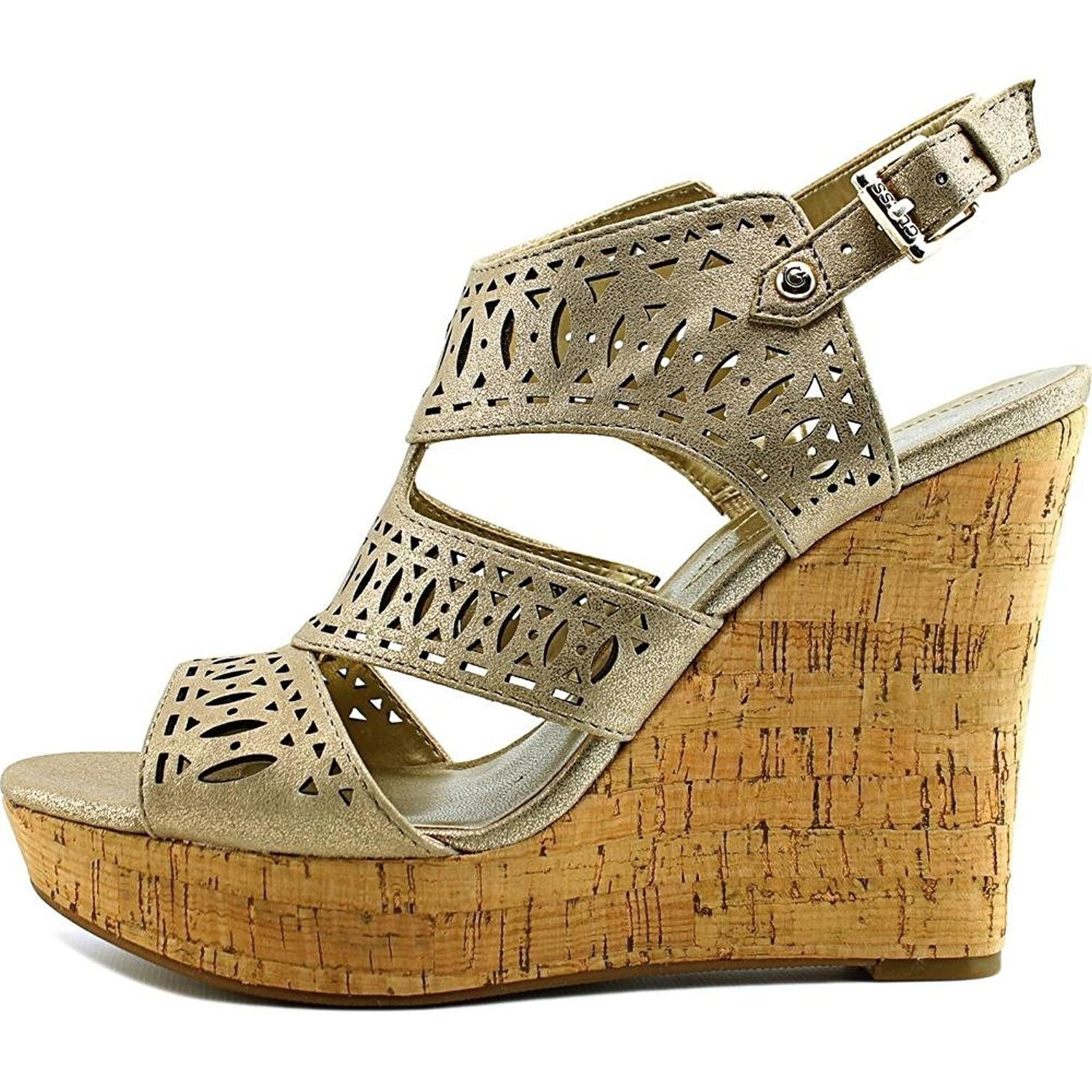 27a7d7181b5 Shop GUESS Womens Vannora Open Toe Casual Platform Sandals - Free Shipping  On Orders Over  45 - Overstock - 20504512