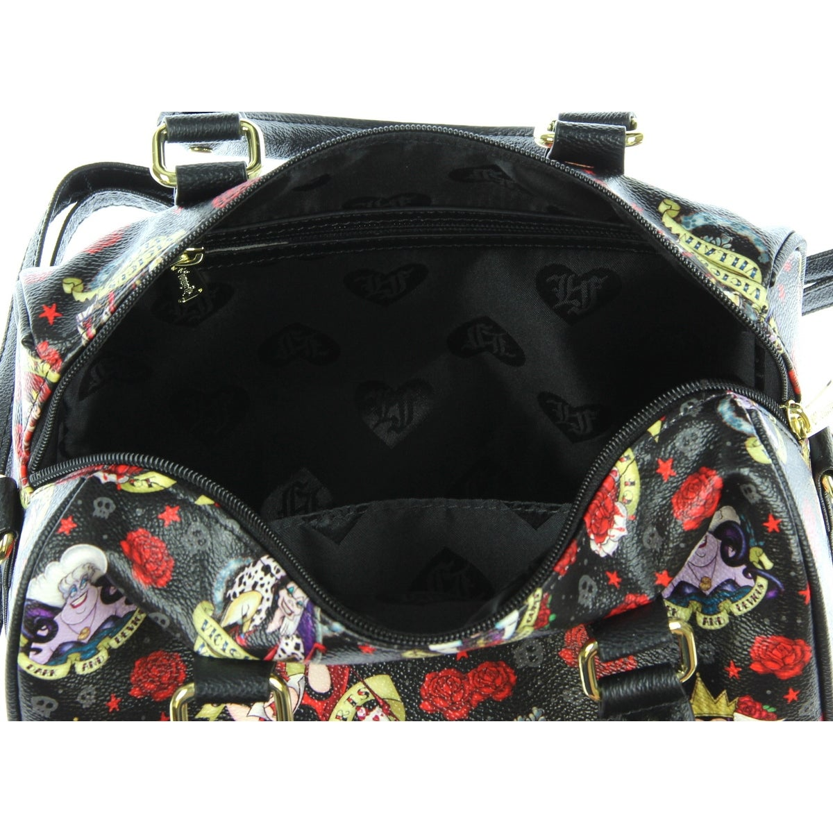 1efd844c95f Shop Loungefly Disney Villains Roses Tattoo All Over Print Faux Leather Bag  - M - Free Shipping Today - Overstock - 17161573