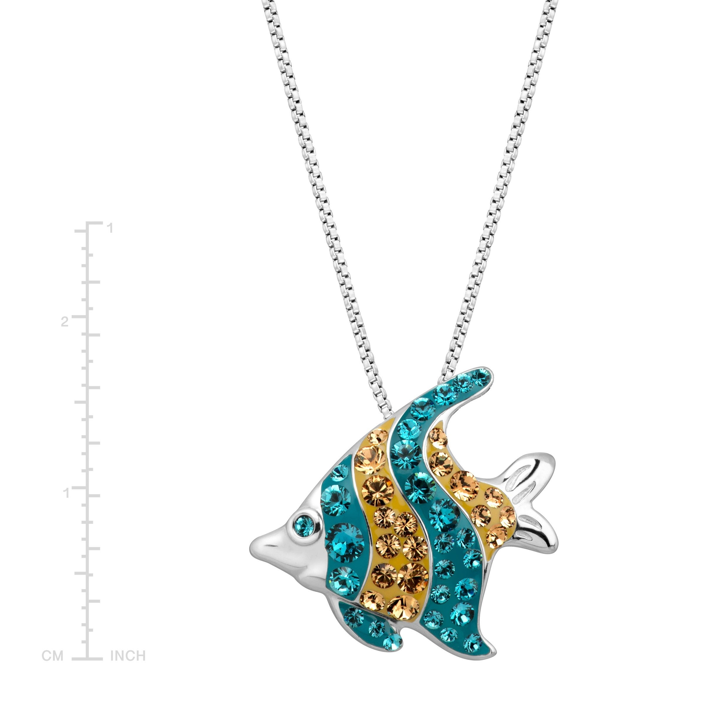 jewelry necklace silver fish mm stone plated mood product pendant igm