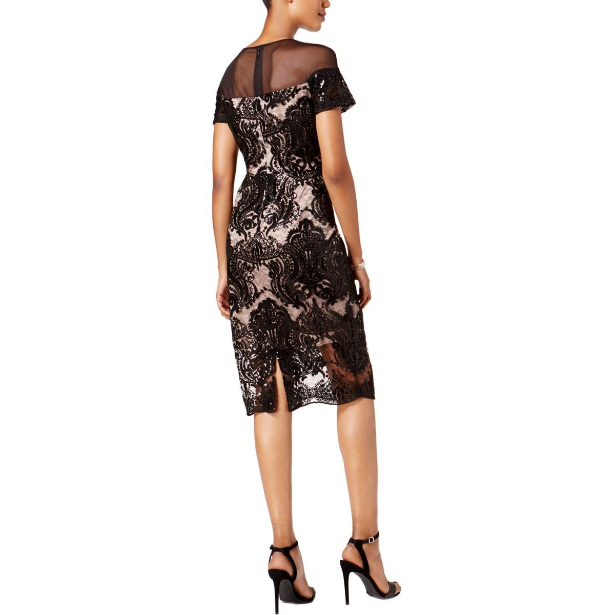 b33ebc731b Shop Jax Black Label Womens Cocktail Dress Sequined Cap Sleeves - Free  Shipping On Orders Over  45 - Overstock.com - 22408948