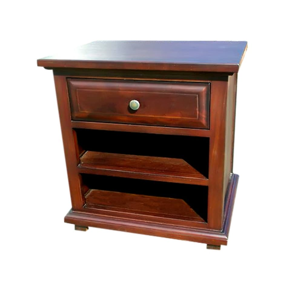 Shop offex solid kiln dried mahogany wood java nightstand free shipping today overstock com 21693778