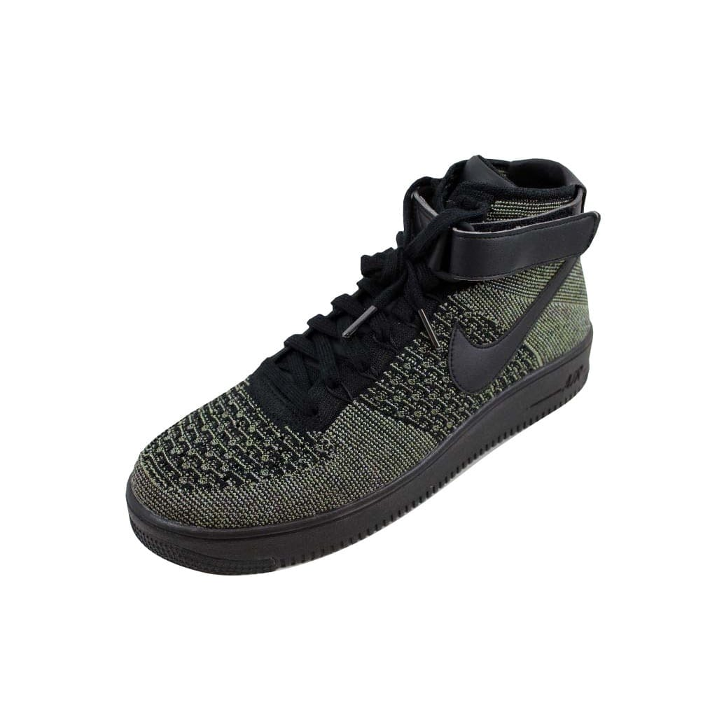 a0a87eed0a73a Nike Men s Air Force 1 Ultra Flyknit Mid Palm Green Black-White 817420-301