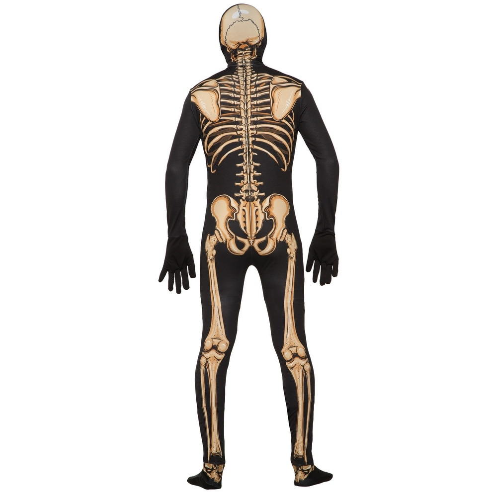 Forum Novelties Skeleton Skin Suit Adult Costume (XL) - Black - X ...