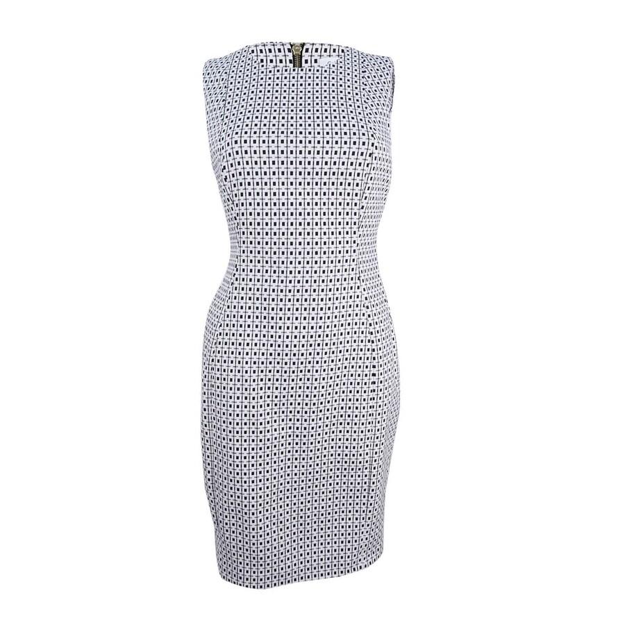 96cecbe9 Shop Calvin Klein Women's Petite Jacquard Sheath Dress - On Sale - Free  Shipping Today - Overstock - 21724972
