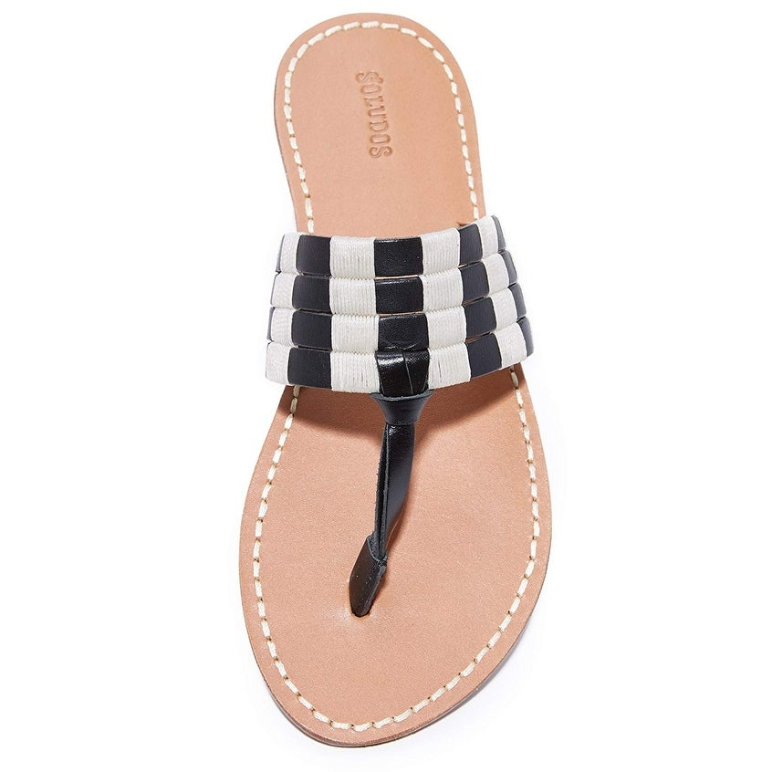 88ed9971a2b1 Shop Soludos Women s Multi Band Thong Sandal Flat - Free Shipping On Orders  Over  45 - Overstock - 23503178