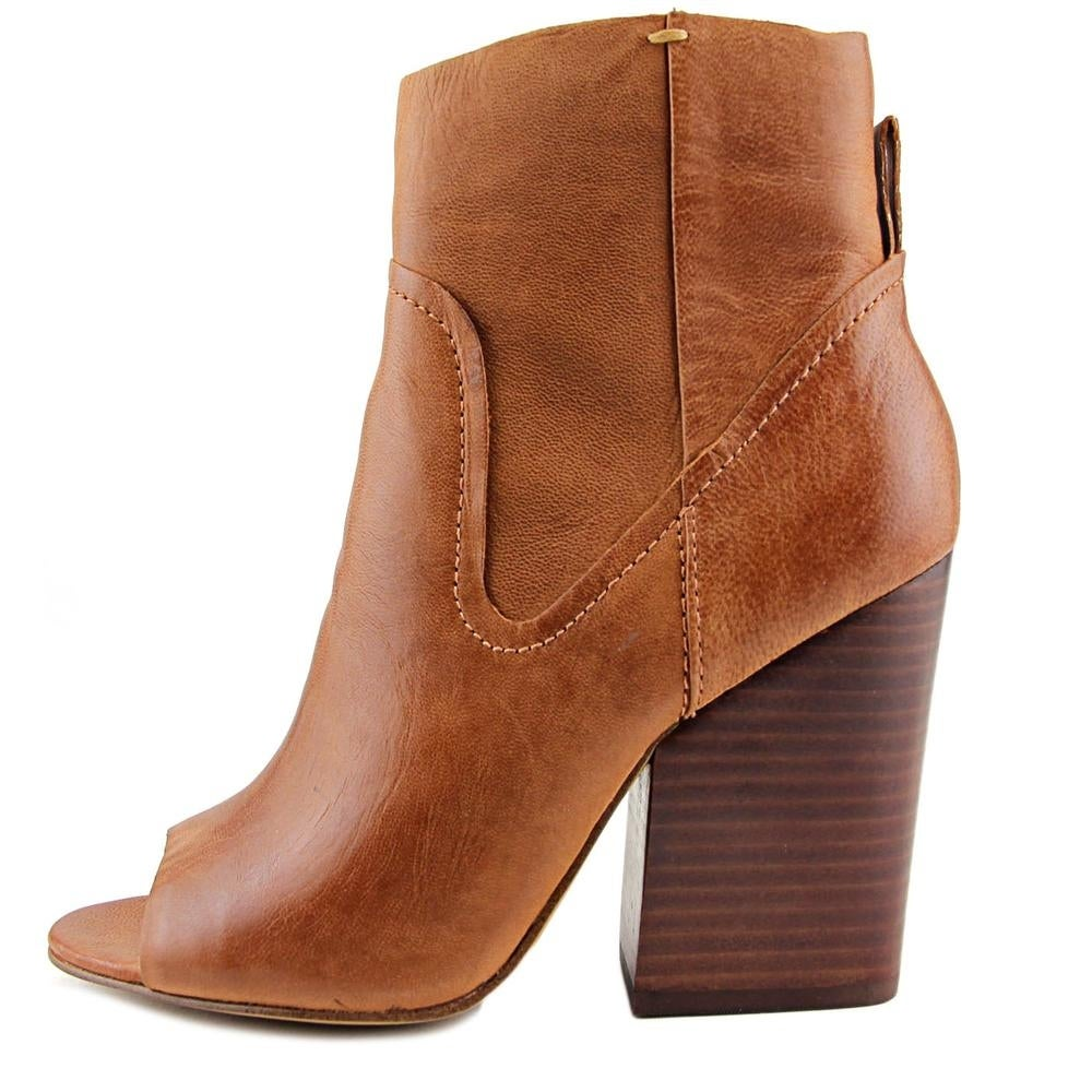 6a36c56fd5c Shop Steve Madden Veronah Women Peep-Toe Leather Brown Bootie - Free  Shipping Today - Overstock - 14318067