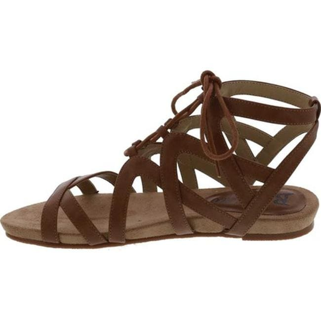 c6f8281059d Shop Bellini Women s Nickel Lace Up Gladiator Sandal Tan Polyurethane -  Free Shipping Today - Overstock - 20171181