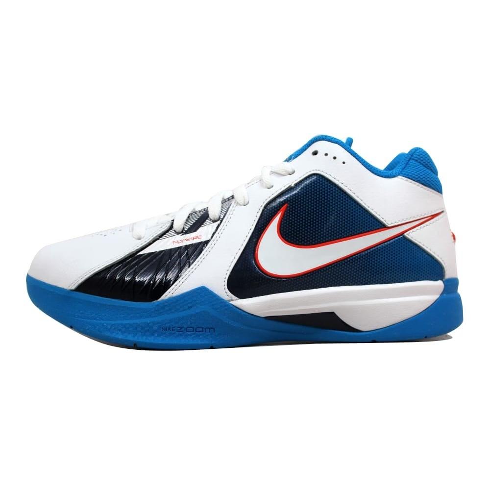 fc1eda8c8bb9 Shop Nike Zoom KD III 3 White White-Team Orange-Photo Blue Kevin Durant OKC  Home Men s 417279-107 Size 7.5 Medium - On Sale - Free Shipping Today ...
