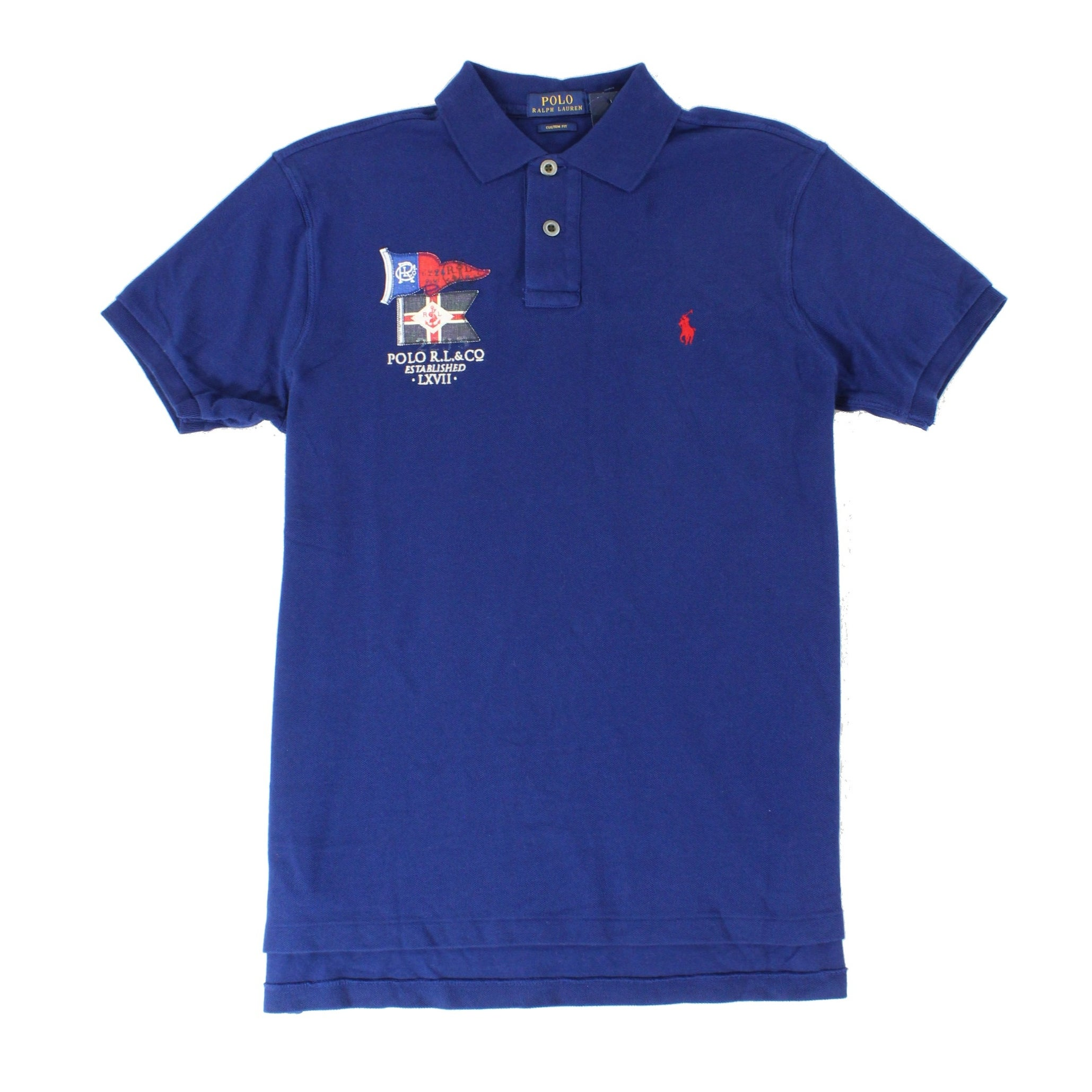 Polo Ralph Lauren New Navy Blue Mens Size Large L Embroidered Polo